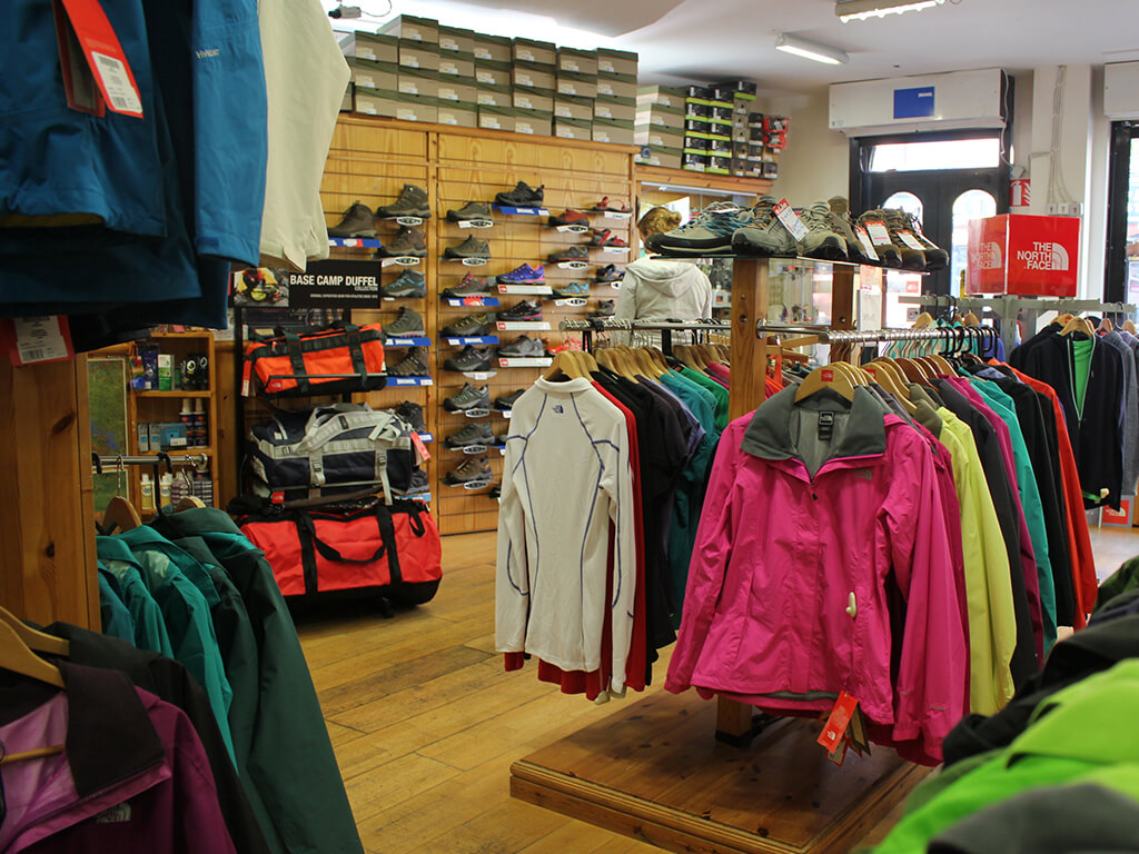 outdoor adventure equipment clothing shops in galway for camping