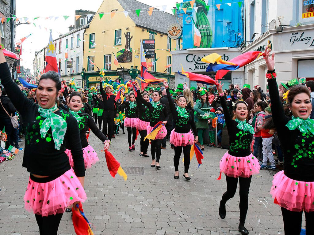 a8a962227 St. Patrick's Day Festival event in Galway, Ireland.
